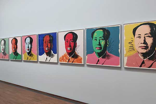 Mao in der Version von Andy Warhol in der Albertina