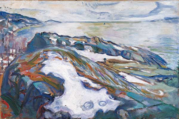 Edvard Munch, Winterlandschaft, Albertina, Wien - Sammlung Batliner © Edvard Munch/The Munch Museum/The Munch Ellingsen Group